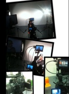 Studio work against white