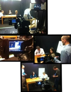filming a business promotional